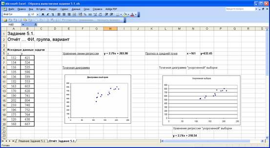 Проверка гипотезы о числовом значении дисперсии нормально распределённой случайной величины.